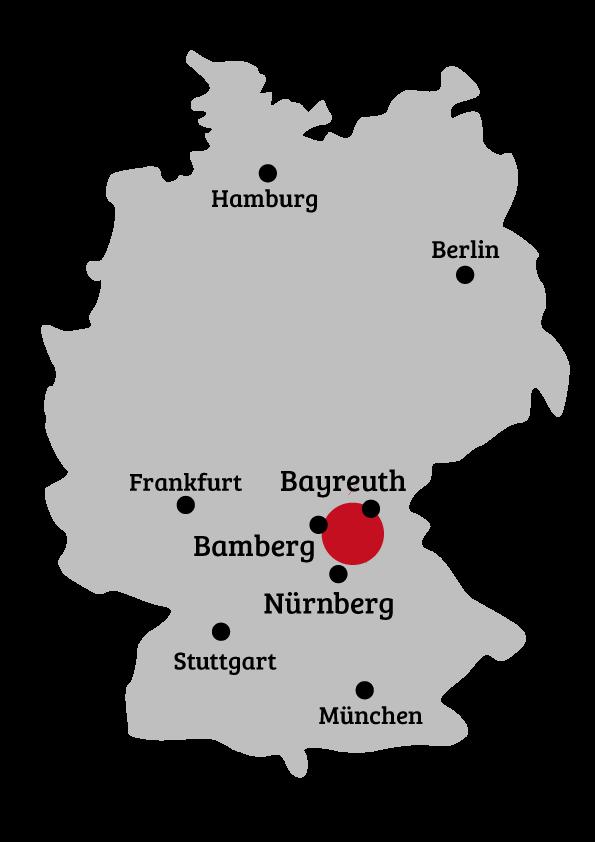 Karte Bamberg Landkarte.Ihr Weg Zu Uns In Die Frankische Schweiz Urlaub In Franken